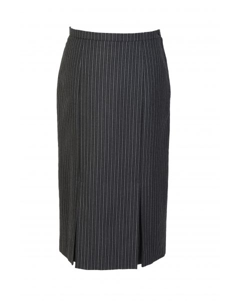 Number One Stripe Inverted Pleats Skirt