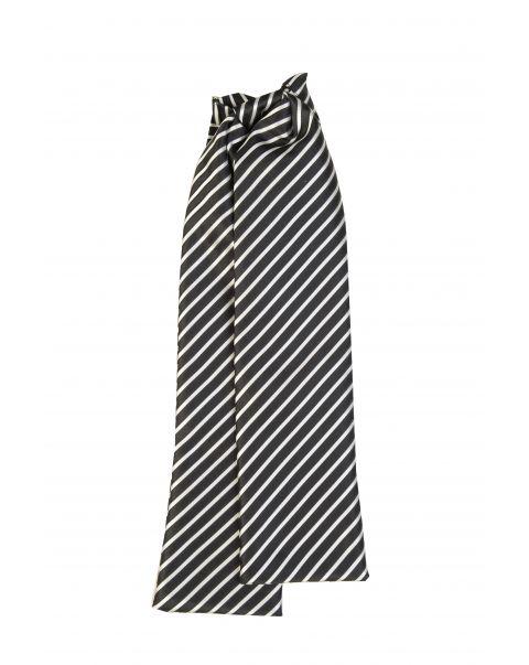 Black & Cream Stripe Cravat