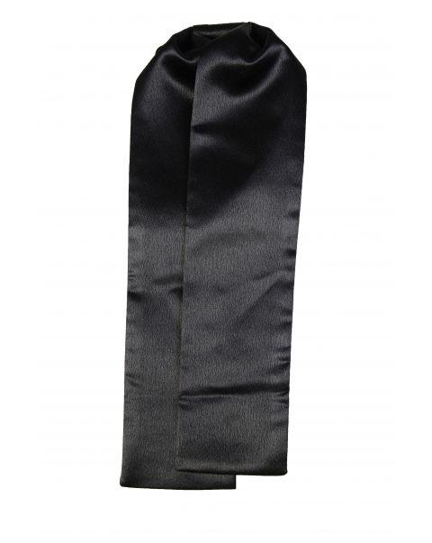 Black Plain Shiny Cravat