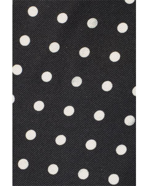 Black & White Spot Pocket Square