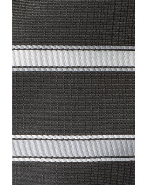 Silver Stripe Pocket Square