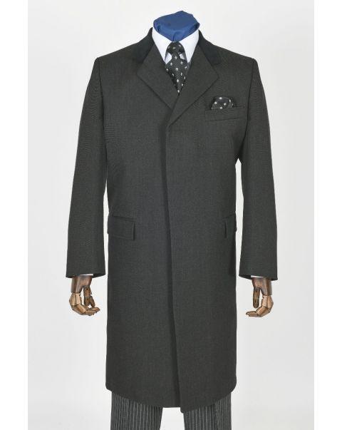 Charcoal Ambassador Whipcord Raincoat