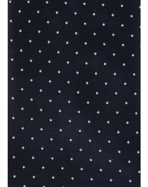 Blue White Dot Neck Tab