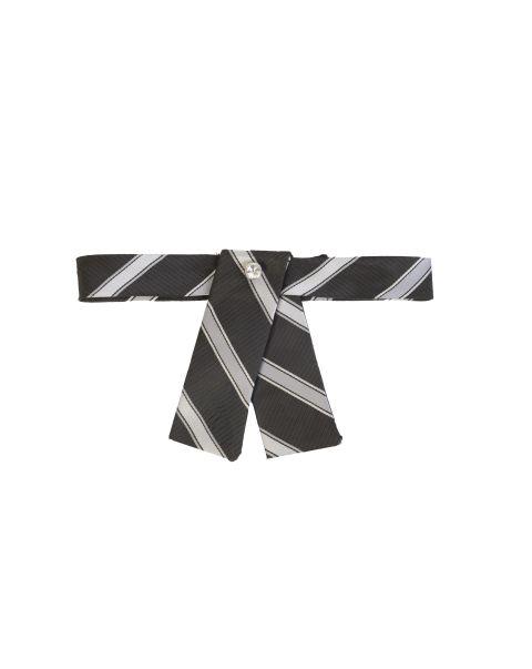 Silver Stripe Neck Tab