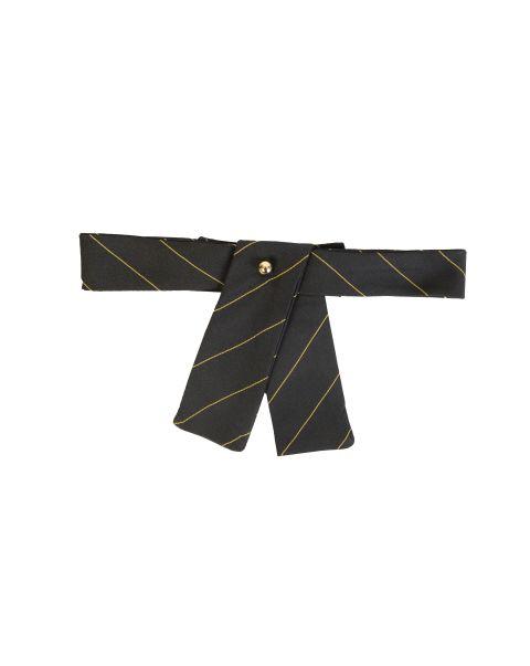 Black Gold Stripe Neck Tab