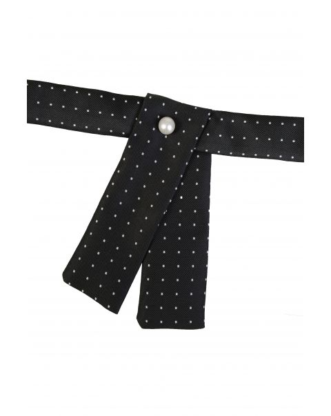 Black White Dot Neck Tab