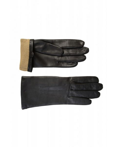 Ladies Warm Lined Leather Gloves