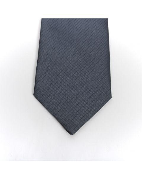 Grey Self Stripe Tie