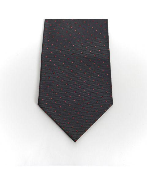 Black Burgundy Spot Tie