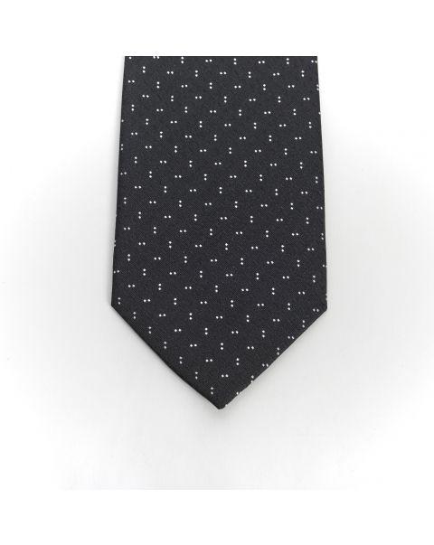 Black Double White Dot Tie