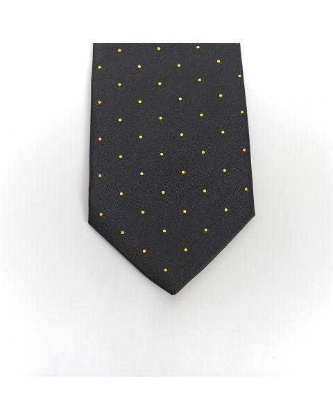 Black Gold Spot Tie