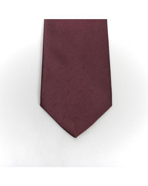 Burgundy Self Spot Tie