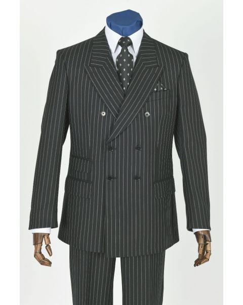 Chalk Stripe Double Breasted Jacket