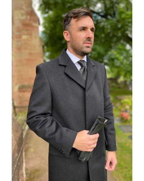 Charcoal Viscount Overcoat