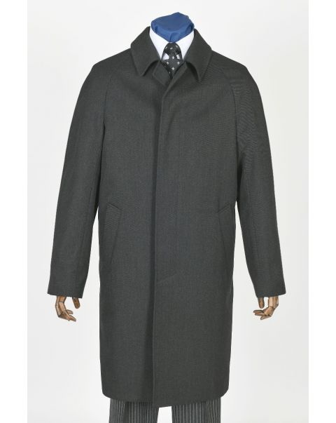 Charcoal Whipcord Raincoat