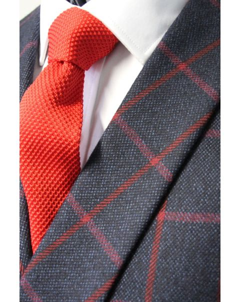 Tweed Checked Double Breasted Waistcoat With Shawl Lapels