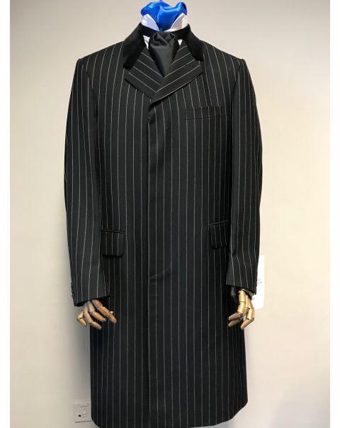 Black Chalk Stripe Overcoat - Chest 40/42