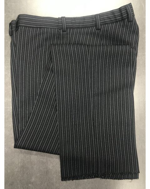 Striped Classic Fit Trousers - W34 x L Unfinished