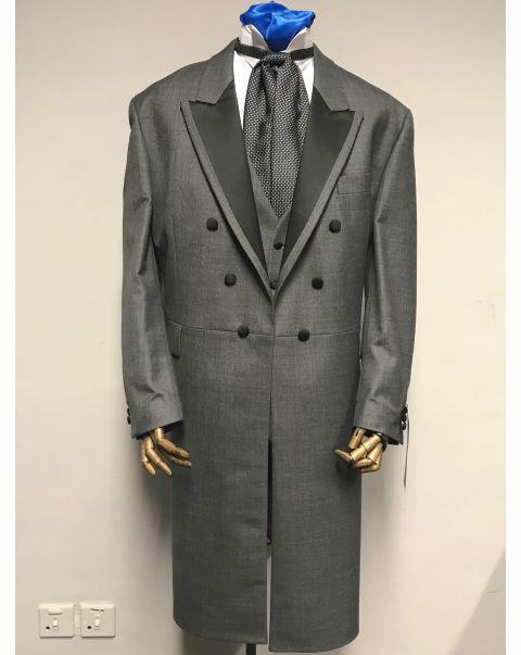 Moksh Grey Frockcoat Three Piece Suit - Chest 50