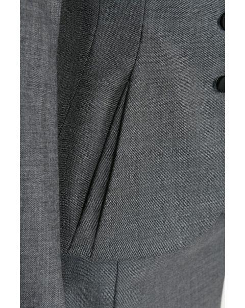 Moksh Grey Arabella Jacket - Satin Trim