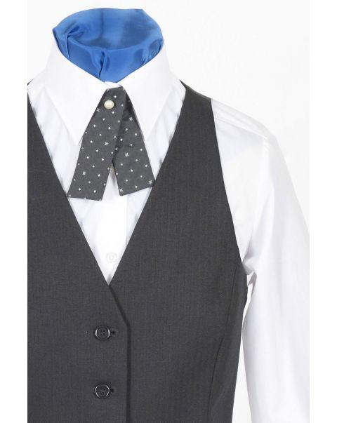 Backless Herringbone Waistcoat