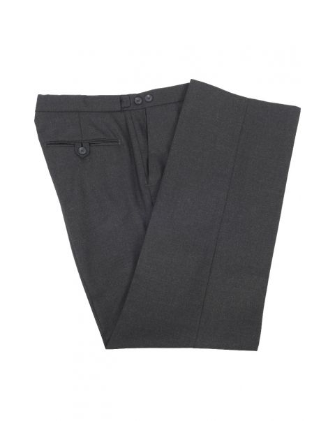 Charcoal Staypressed Trousers - Pleated Front