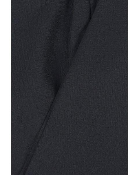 Black Herringbone Two Inverted Pleats Skirt