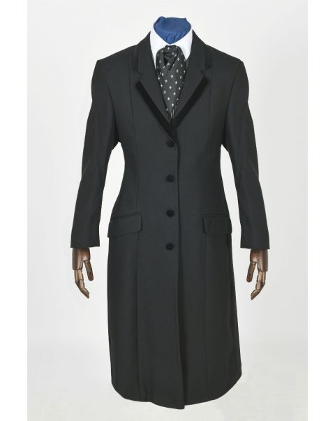 Longline Jacket - Velvet Trim