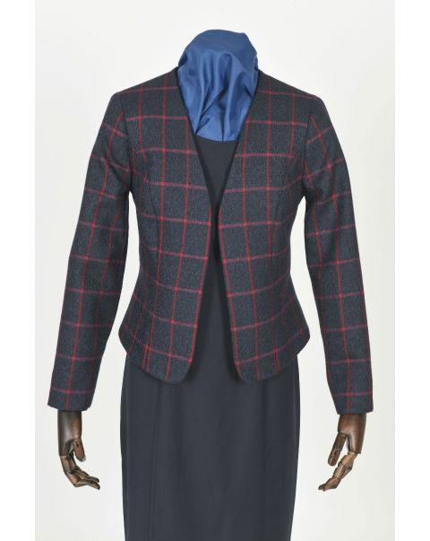 Tweed Checked Bolero