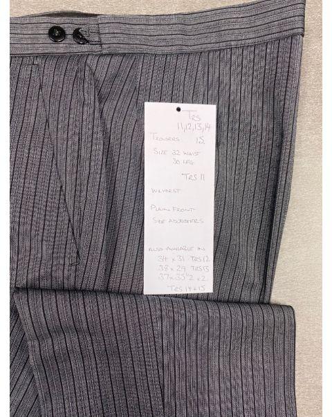 Striped Classic Fit Trousers - W37 x L35 1/2