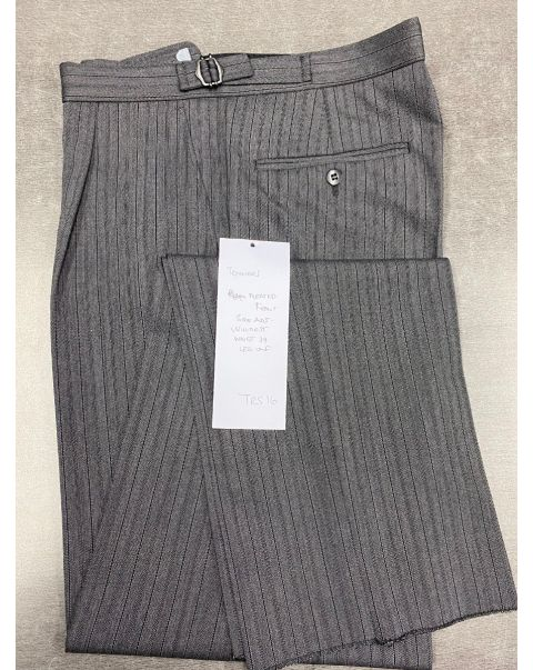 Striped Classic Fit Trousers - W34 x Unfinished