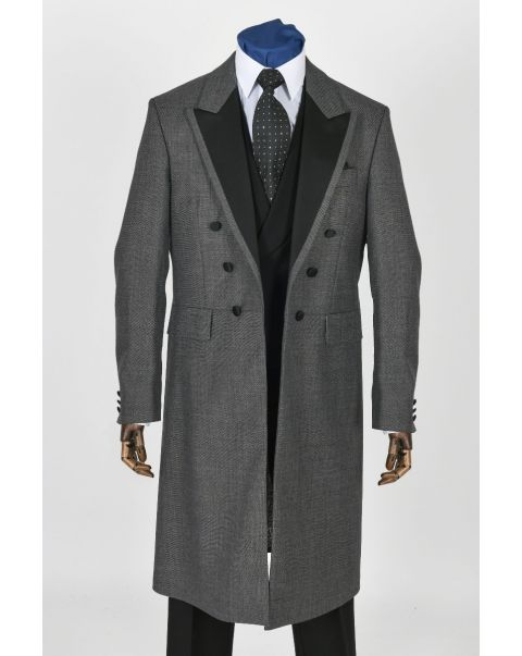 Satin Facing Moksh Grey Frockcoat