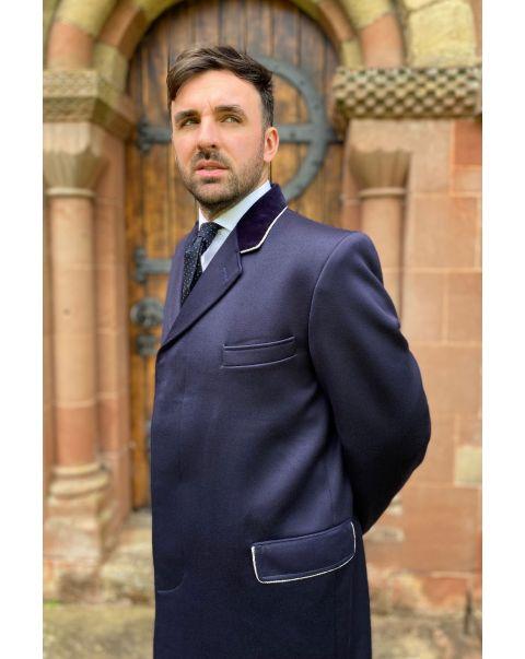Navy Ambassador Overcoat - Silver Trim