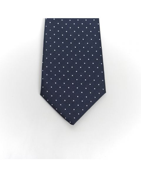 Blue White Dot Tie