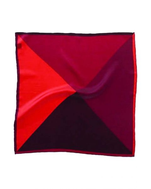 Four Colour Red Silk Handkerchief
