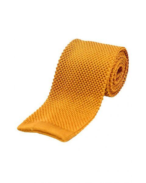 Burnt Orange Knitted Silk Tie