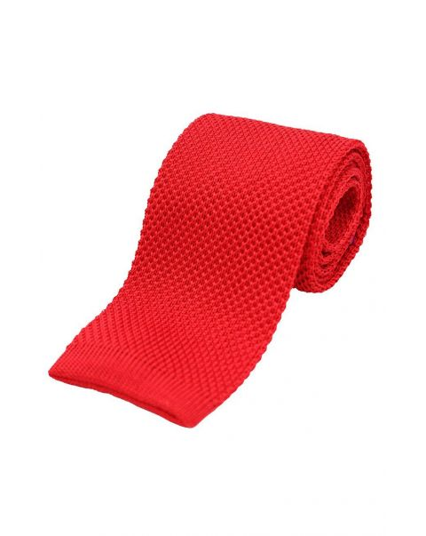 Letterbox Red Knitted Silk Tie