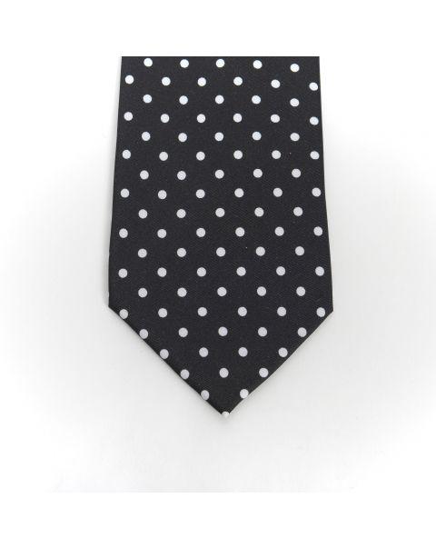 Black & White Spot Tie