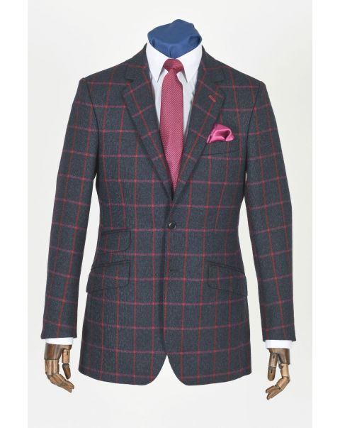 Tweed Checked Button Two Jacket
