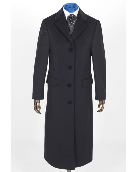 Overcoat - Velvet Trim