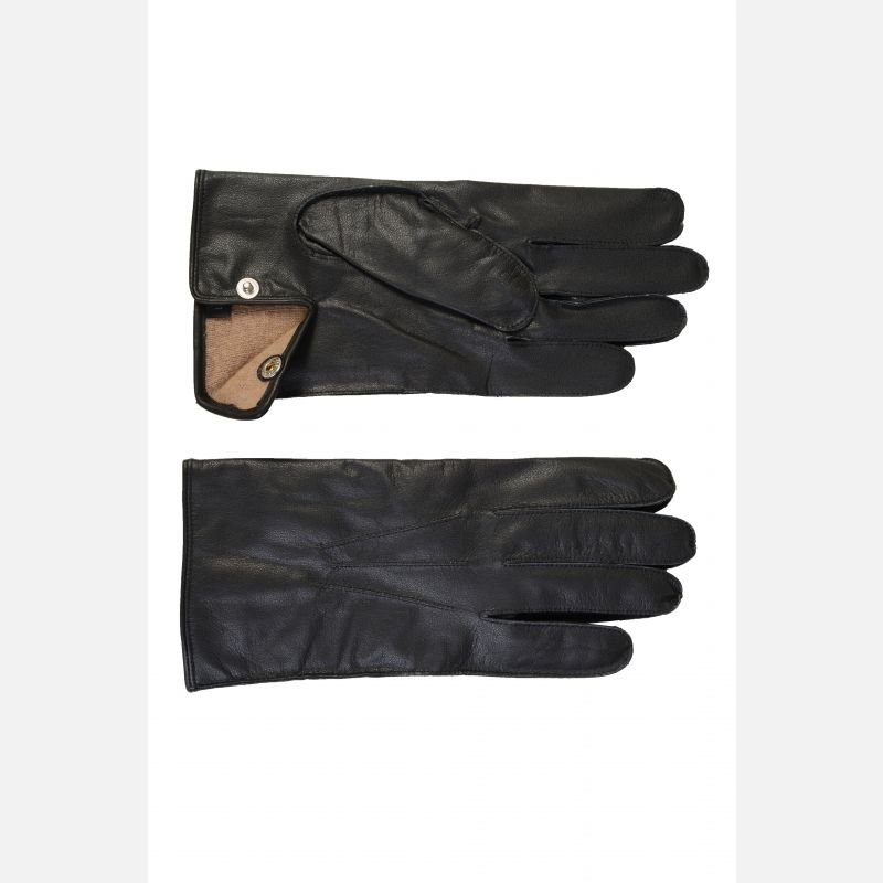 Warm Lined Sheepskin Gloves With Palm Vent & Stud