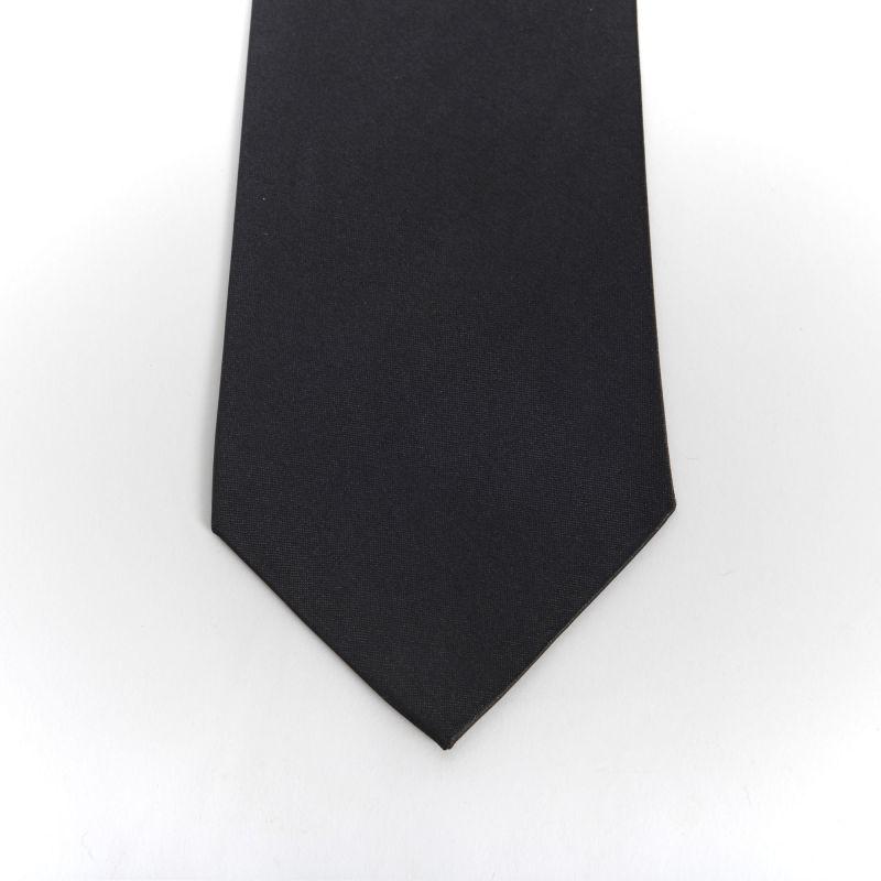 Black Plain Shiny Tie