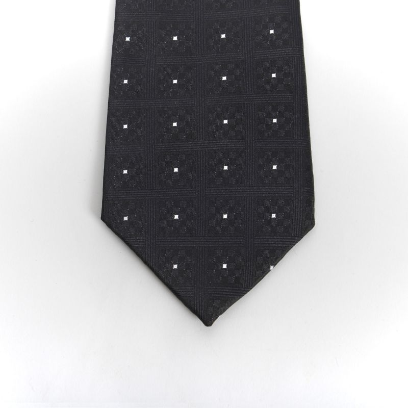 Black Chequers Tie