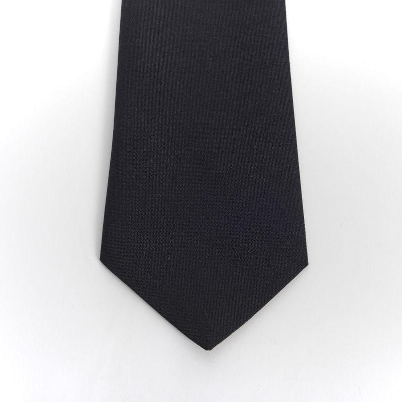 Black Plain Matt Tie
