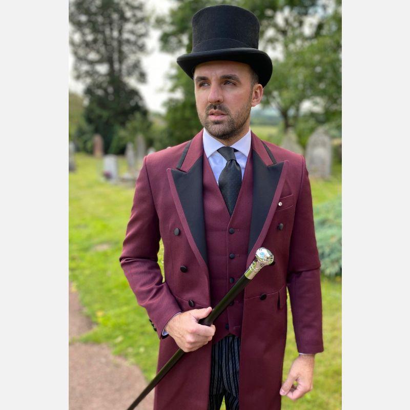 Satin Facing Burgundy Frockcoat