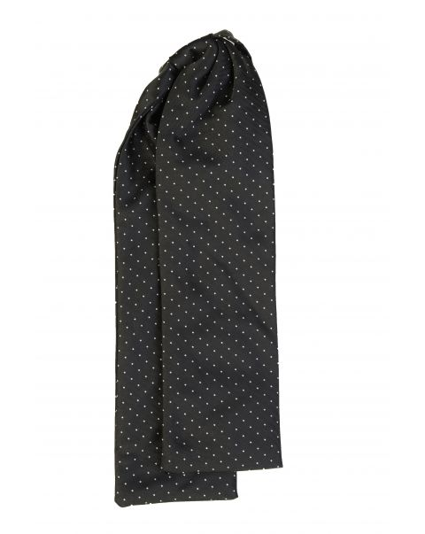 Black White Dot Cravat