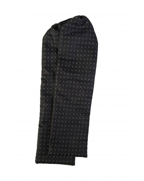 Black Double White Dot Cravat