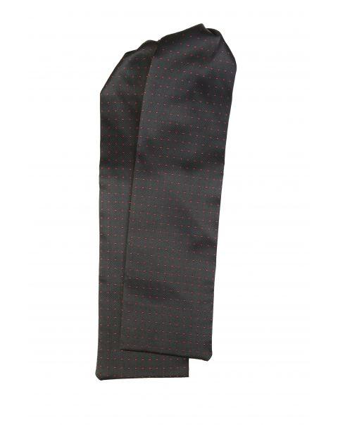 Black Burgundy Spot Cravat