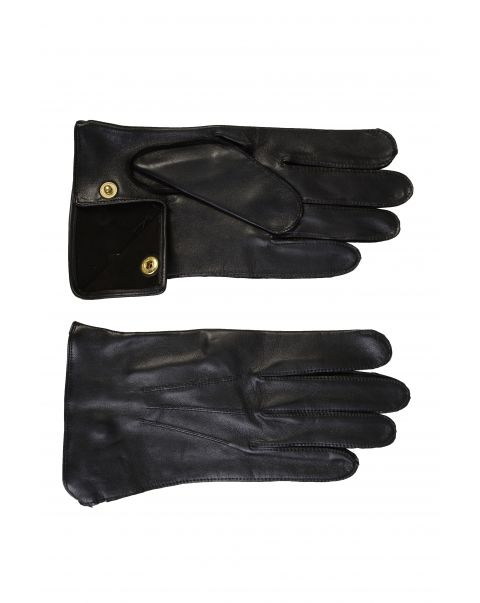 Black Unlined Kid Leather Gloves