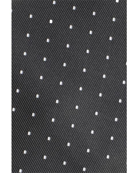 Black White Dot Pocket Square